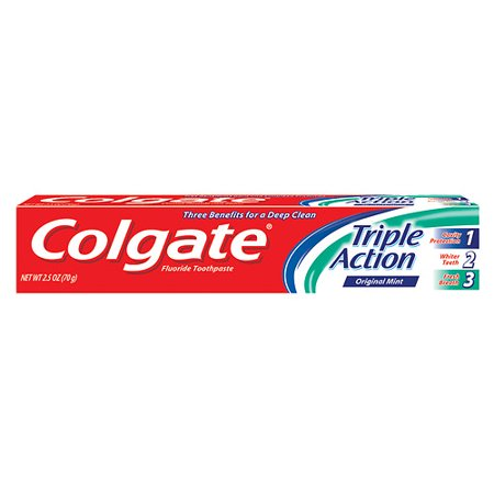 Colgate Triple Action Original Mint, 2.5 oz.