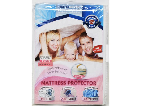 "Mattress Protector Fabric Twin size 39"" x 75 x 12"", 1-ct"
