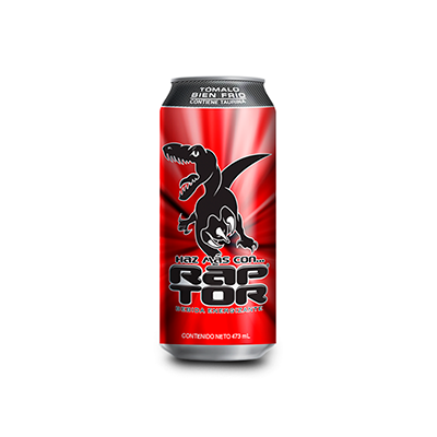 RapTor Sparkling Energy Drink, 473 ml.