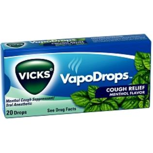 Vicks VapoDrops Cough Relief Menthol Flavor, 20 Drops