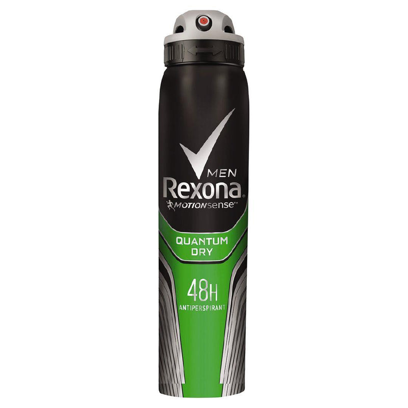 Rexona for Men Quantum Dry 48 Hour Anti-Perspirant Body Spray Deodorant, 200 ml