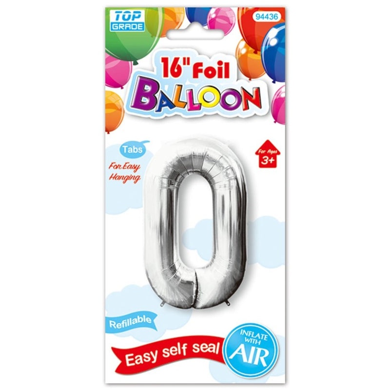 "16"" Foil Balloon Number ""0"", 1-ct."