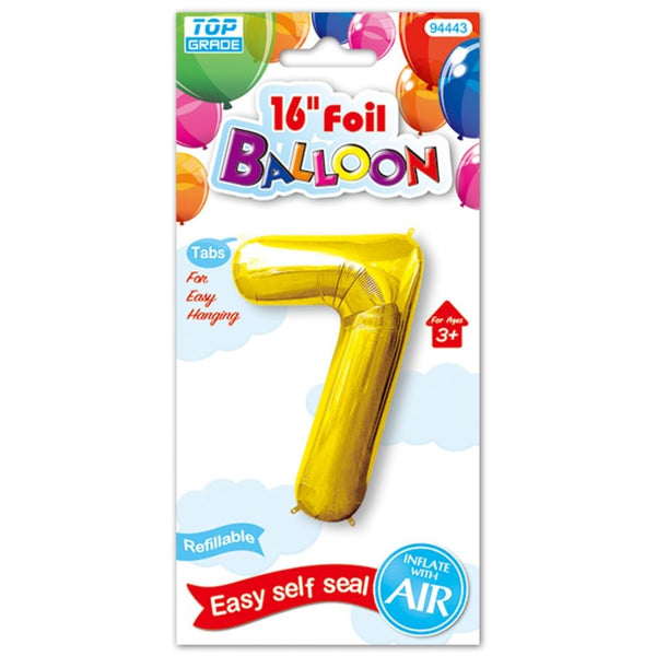 "16"" Foil Balloon Number ""7"", 1-ct."
