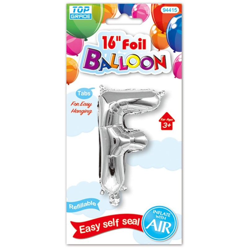 "16"" Foil Balloon Letter ""F"", 1-ct."