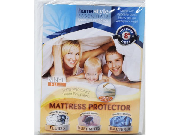Mattress Protector Zippered Vinyl Full size, 1-ct