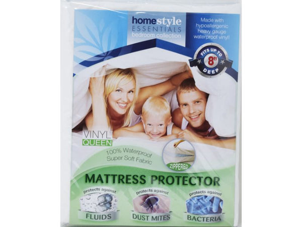 Mattress Protector Zippered Vinyl Queen size, 1-ct