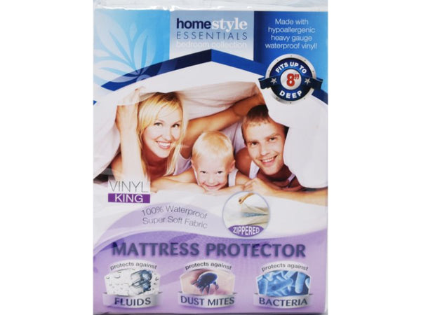 Mattress Protector Zippered Vinyl King size, 1-ct