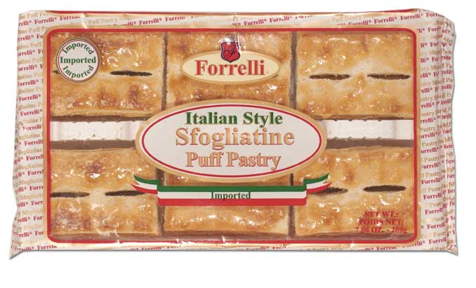 Forrelli Imported Italian Style Sfogliatine Sugar Glazed Puff Pastries, 7.05 oz.