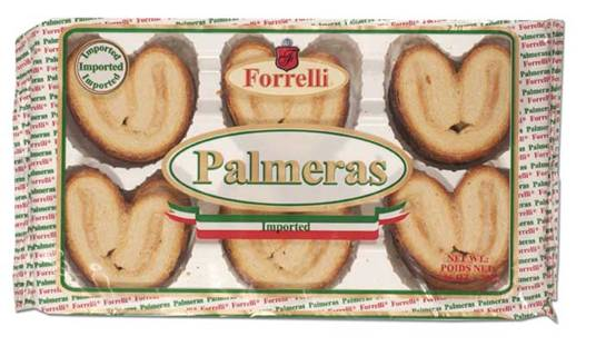 Forrelli Imported Palmeras Puff Pastries, 7.05 oz.