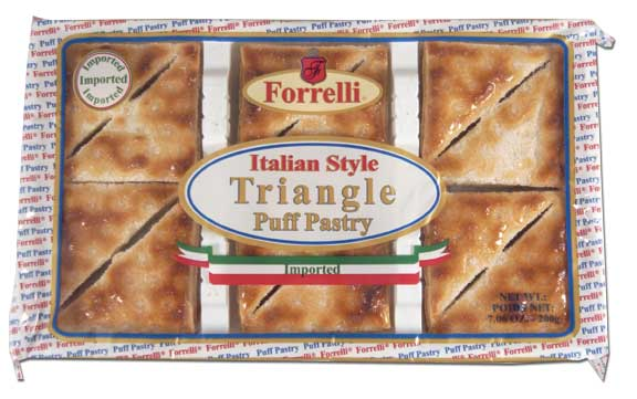 Forrelli Imported Italian Style Triangle Shaped Puff Pastries, 7.05 oz.