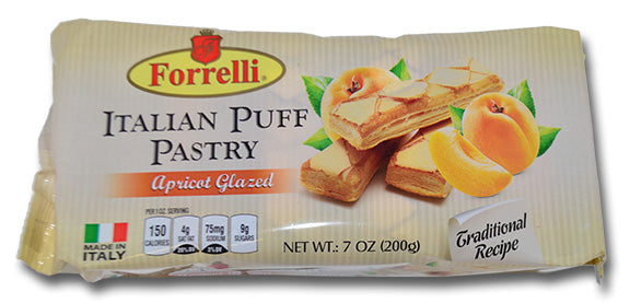 Forrelli Italian Puff Pastry Apricot Glazed, Made in Italy, 7 oz.