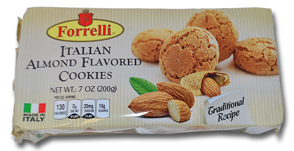 Forrelli Italian Almond Flavored Cookies, Made in Italy, 7 oz.