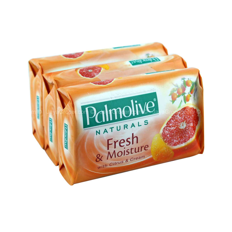 Palmolive Naturals Fresh & Moisture with Citrus & Cream, 3 ct. 80g
