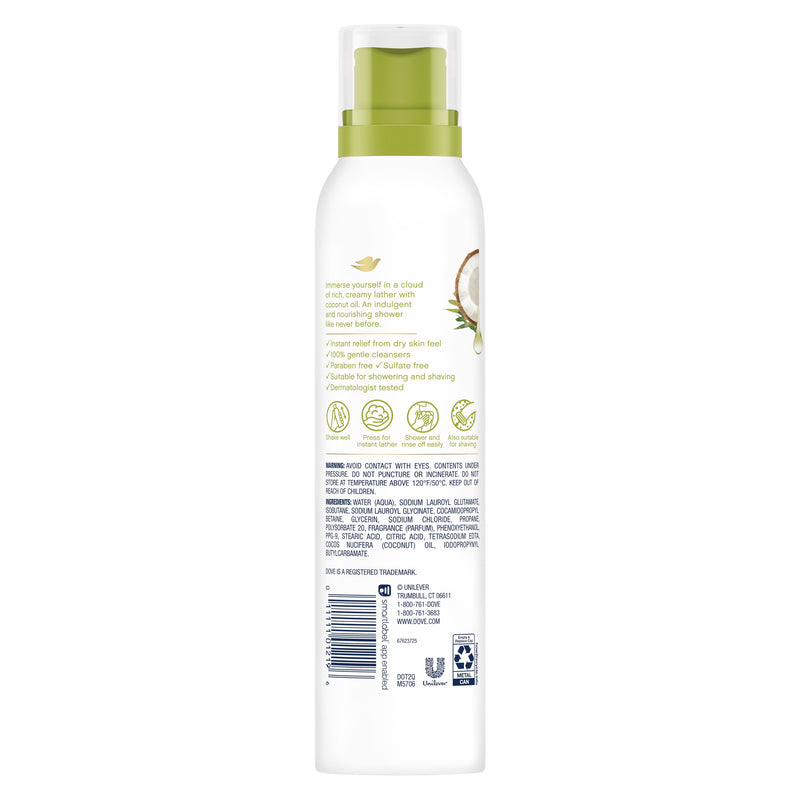 Dove Shower Mousse with Coconut Oil, 200 ml
