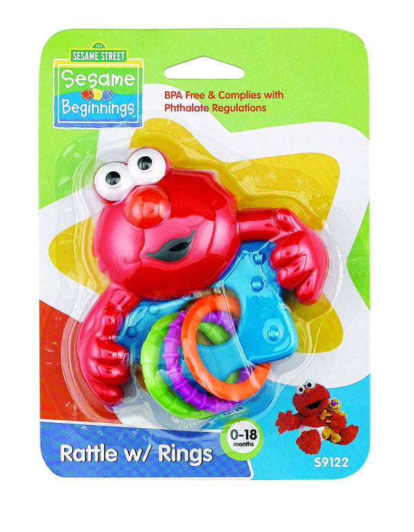 Baby Rattle w/ Rings, 1-Pack
