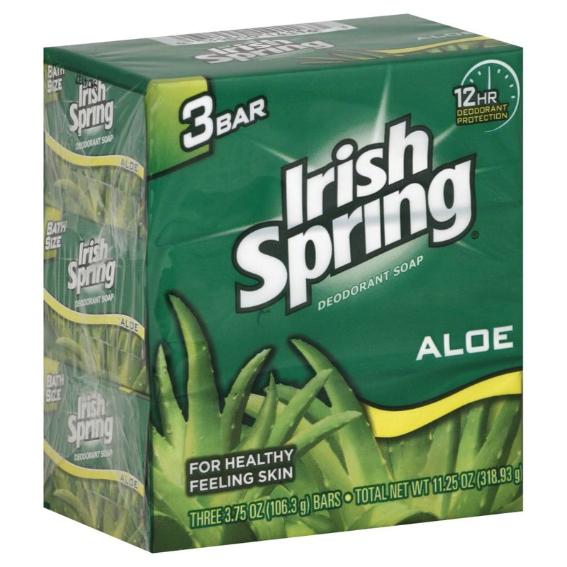 Irish Spring Aloe Bar Soap, 3 pack 3.7 oz.