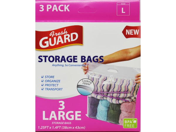 Storage Bag 3-Large Pack 38cm x 43cm, 1-ct
