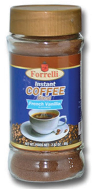 Forrelli Instant Coffee Blend, French Vanilla Flavor, 2.82 oz.