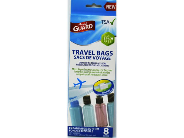 "Travel Bags Fresh Guard 8"" x 6"" x 1"", 8-ct"
