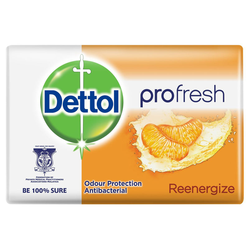 Dettol Re-Energize Anti-Bacterial Bar Soap, 105g