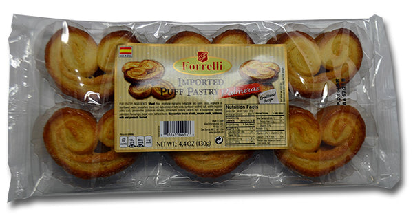 Forrelli Imported Puff Pastry Palmeras, Made in Spain, 4.4 oz.