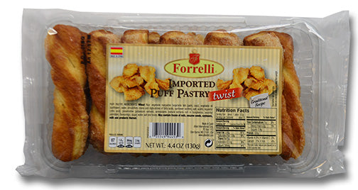 Forrelli Imported Puff Pastry Twist, Made in Spain, 4.4 oz.