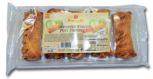 Forrelli Imported Strudel Puff Pastry Apple, Made in Spain, 5.3 oz.