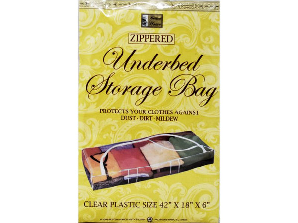 "Underbed Zippered Storage Bag 42"" x 18"" x 6"", 1-ct"