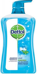 Dettol Cool Icy Mint & Bergamont Anti-Bacterial Bodywash, 625 ml