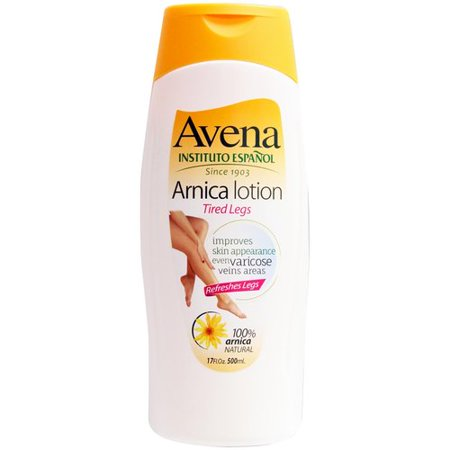 Avena Arnica Lotion Tired Legs 100% Arnica Natural, 17 fl oz. 500 ml