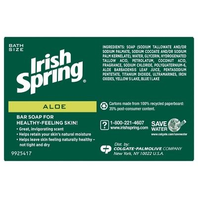 Irish Spring Aloe Bar Soap, 3.7 oz.