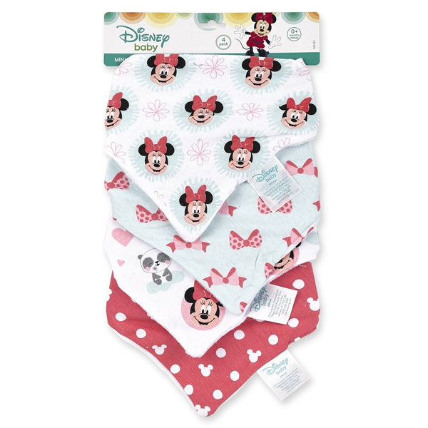 Disney Baby Girl Bandanna Bib, 4-Pack