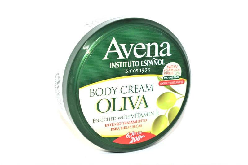 Avena Body Cream Oliva Enriched with Vitamin E, 6.7 fl. oz. 200g