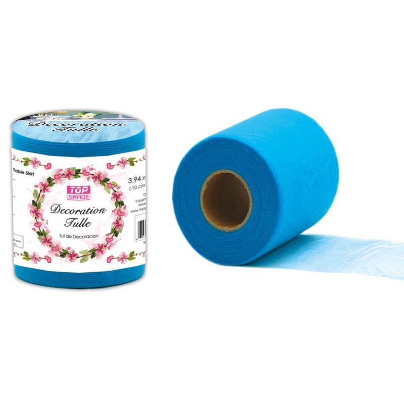 "Decoration Tulle Blue 7"" x 50 yards, 1-ct."