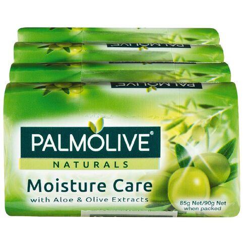 Palmolive Naturals Moisture Care with Olive, 4 Pack 90g