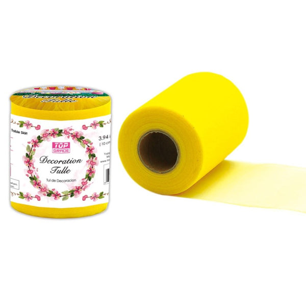 "Decoration Tulle Yellow 7"" x 50 yards, 1-ct."
