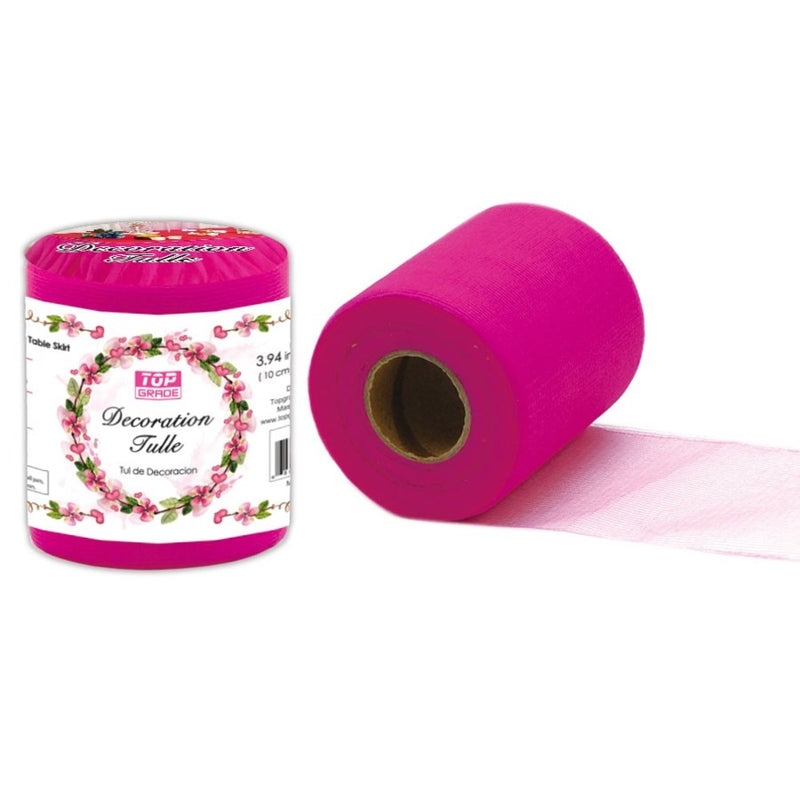 "Decoration Tulle Hot Pink 7"" x 50 yards, 1-ct."