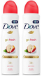 Dove GO Fresh Apple and White Tea Antiperspirant, 150ml (Pack of 2)