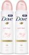 Dove Soft Peel Antiperspirant, 150ml (Pack of 2)