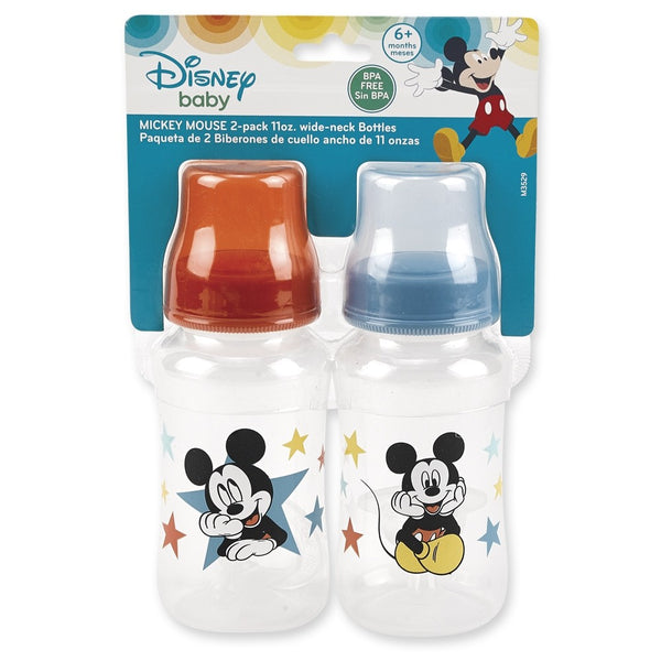 Mickey Mouse 11 oz. Wide Neck Bottles, 2-Pack
