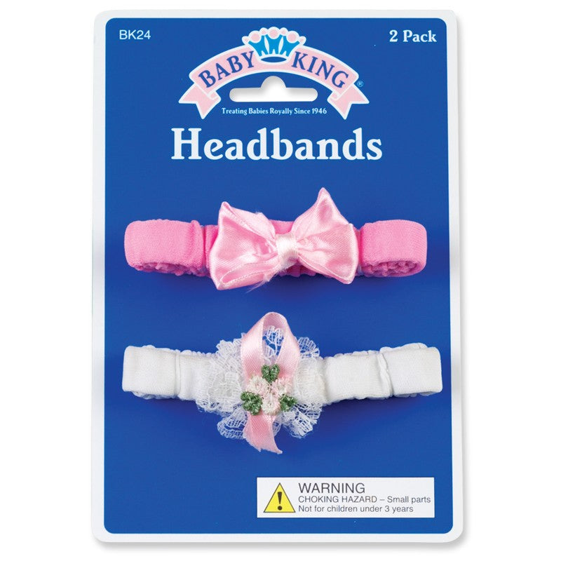 Baby King Baby Headbands (2 Pack)