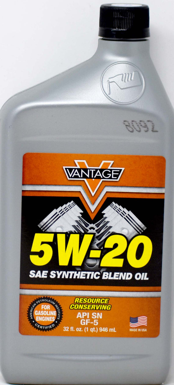 5W-20 Sae Synthetic Blend Oil, 32 oz.