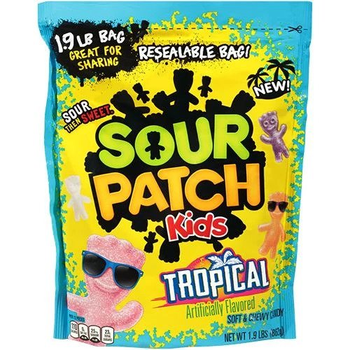 Sour Patch Kids Tropical Candy 4 oz, 1-ct