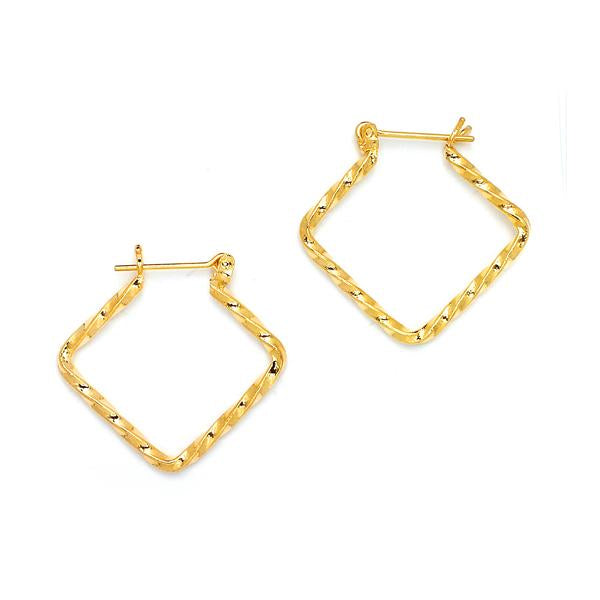 14 KT Pincatch GF Earrings, 27 mm
