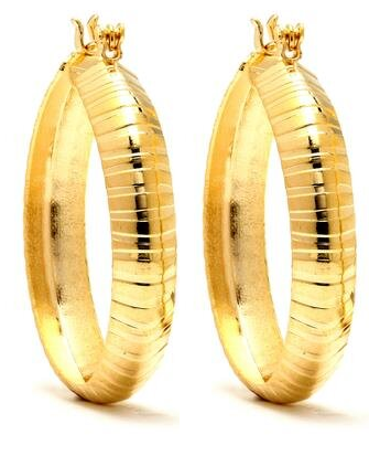 14 KT Pincatch GF Earrings, 37 mm