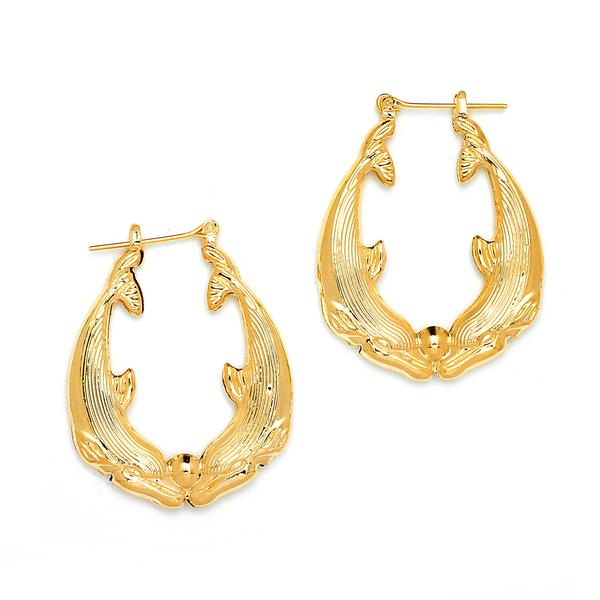 14 KT Pincatch GF Earrings, 35 mm