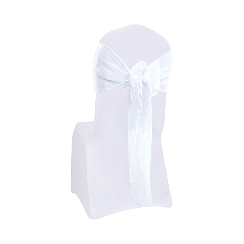 "Organza Chair Sashes White 7""x 8.5ft, 1-ct."