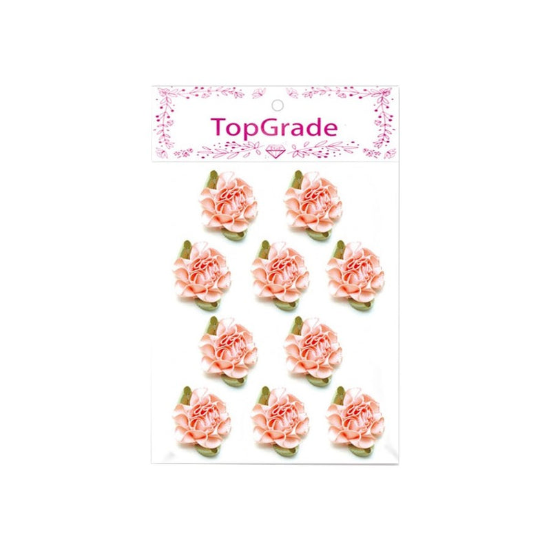 Satin Flower Peach, 10-ct