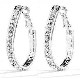 JE Double Cubic Zirconia Earrings