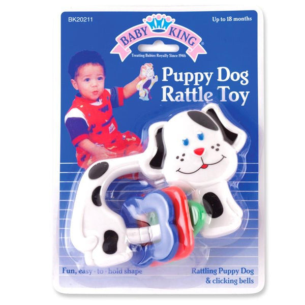 Baby King Puppy Rattle